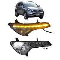 car styling LED Daytime Running Light Driving Light Fog Lamp Cover For KIA Sportage 2011 2014 led drl day light