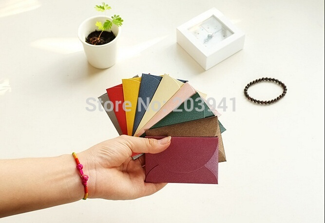 5pcs/lot 90*60mm Mini Candy Color Fashion Window Paper Envelope For Party Wedding Letter Invitation Greeting Cards Letter Cover