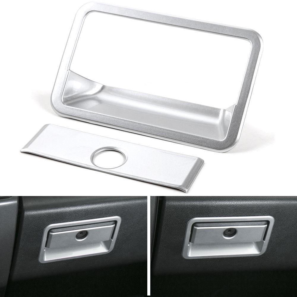 Moulures intérieures de voiture ABS côté passager boîte de rangement interrupteur poignée couvercle garniture pour Ford F150 2015-2017 accessoires de style de voiture