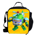 Hot Christmas Gifts For Kids Lunch Bag For School Cartoon Character Robocar Poli Lunch Bag Autobots For Boys Girls Picnic Bag