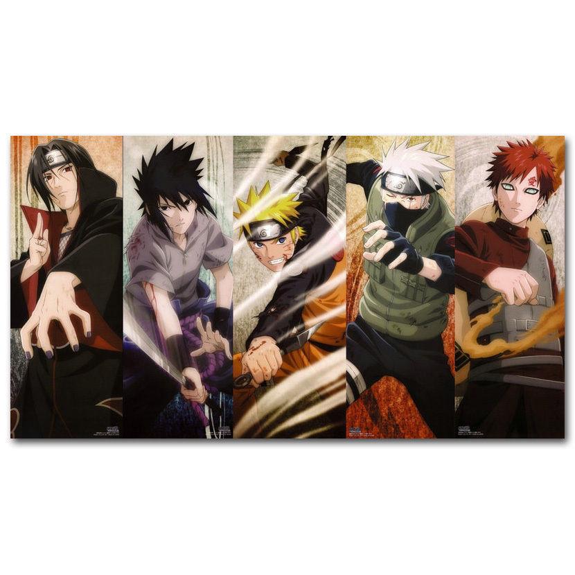 0868b Naruto Shippuden Personaggi Dei Cartoni Animati Anime Del Giappone Gioco-autoadesivo Della Parete Di Seta Poster Luce Di Decorazione Della Tela Di Canapa