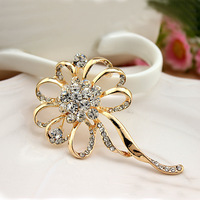 2013 New Arrival Hot Fashion OL Temperament Elegant Jewelry Korean Exquisite Hollow Full Shiny Zircon Flowers