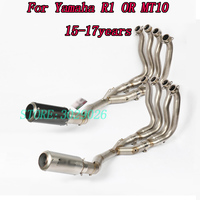 Motorcycle Exhaust R1 MT10 Full Exhaust Pipe With Middle Section Non destructive Modification System For Yamaha R1 MT10 2015 17