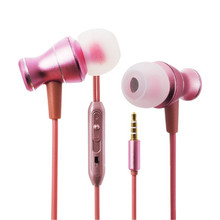 For iphone and for Xiaomi Fashion New Earphones  3 Colors With Built-in Microphone 3.5mm In-Ear  Earphone For Smartphones brand colorful zipper earphones 3 5mm in ear earphone with microphone for iphone for samsung pink blue black white purple
