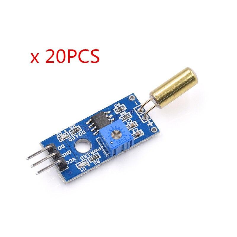 20PCS/LOT Golden SW520D Angle Sensor Module Ball Switch Tilt Sensor Module For Arduino