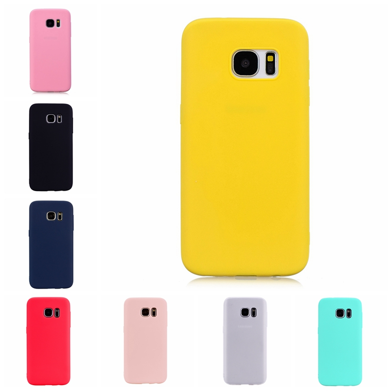 Candy Color <font><b>Phone</b></font> <font><b>Case</b></font> For Coque <font><b>Samsung</b></font> Galaxy <font><b>S7</b></font> Soft Silicon TPU Back Cover For Etui <font><b>Samsung</b></font> <font><b>S7</b></font> S 7 7S Back Cover image