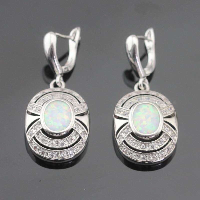Australija Vatro bijela opal srebrna boja nakit setovi za žene - Modni nakit - Foto 5