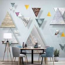Custom 3D mural stereo geometric abstract line TV background wall decoration painting wallpaper photo