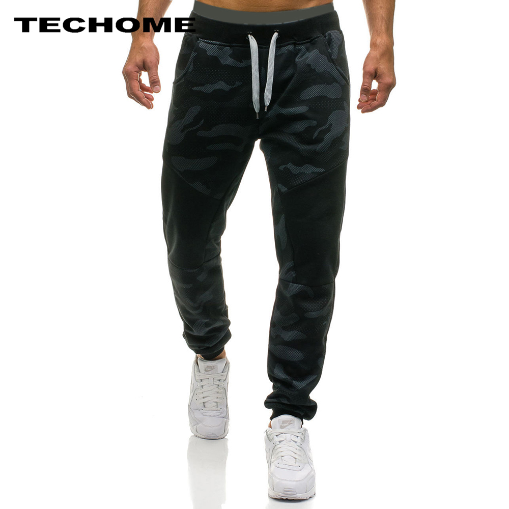 2018 Men Casual Pants Male Brand Straight Trousers Camouflage Long Pants Cotton Sweatpants Jogger Tracksuit Funky Sweatpants XXL Men gym joggers