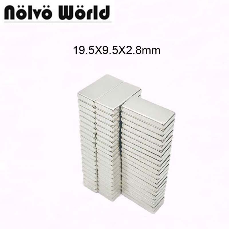 20PCS 19.5*9.5*2.8mm powerful hidden neodymium magnetic block rare earth super invisible magnets button DIY bag accessories qs 3mm216a diy 3mm round neodymium magnets golden 216 pcs