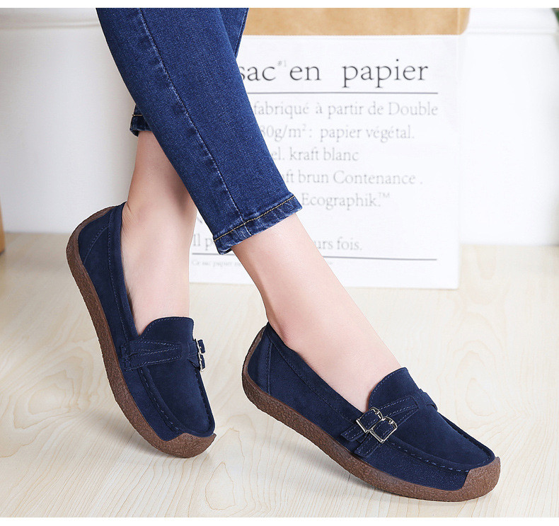 HX 7732-2019 Spring Autumn New Arrival Genuine Leather Women Flats Shoe-13