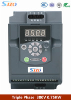 SJZO ZQ100 Series 0.75KW Water Pump VFD Triple Phase 380V Input Variable Frequency Drive 3Phase 380V Output Frequency Inverter