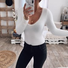 Zogaa Autumn Winter hot sale comfortable fashion jumpsuit sexy round neck plush slim long-sleeved 2019 woman