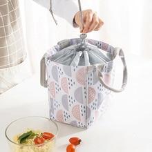 Lunch-Bag Food-Insulation-Bag Baby Waterproof Portable Oxford Geometric Cartoon New