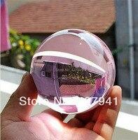 Asian Rare Natural Quartz Pink Magic Crystal Healing Ball Sphere 40mm Stand