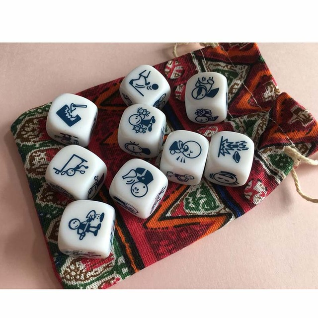 Basic/Action Story Dice Puzzle Board Game Telling Story Family/Party/Friends Parents with Children