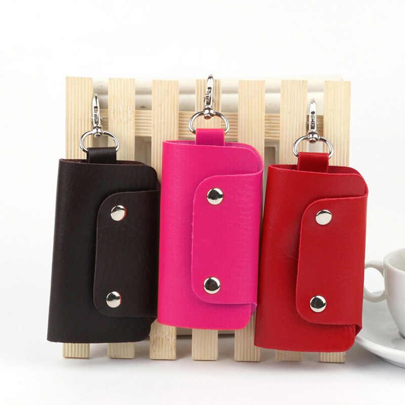 1 sztuk moda klucze skórzana klamra portfel na klucze case brelok do kluczyków samochodowych dla kobiet/mężczyzn prezenty 6 kolory 11*6cm