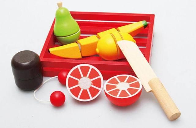 Houten Keuken Speelgoed : St baby houten keuken speelgoed fruite slice en zie gift doos