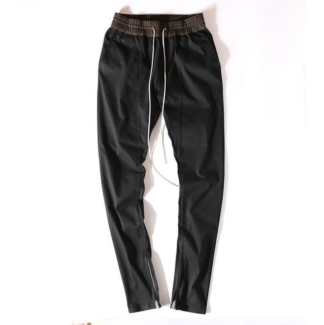 826a16c3f4 ... hombres el miedo de dios niebla justin estilo bieber flacos delgados  largos raya cremalleras pantalones basculador de kanye west. Previous  Next