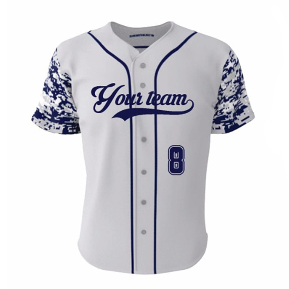 Newset Custom Baseball Jersey Mens Sports Collage Blue ...