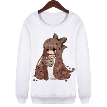 Sweatshirt Kawaii Manga Girls Femmes