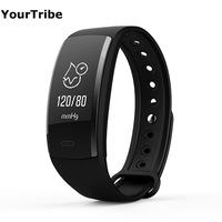 YourTribe QS90 Blood Pressure Smart Bracelet Heart Rate Monitor Blood Oxygen Monitor IP67 Fitness Tracker Band for Andriod IOS