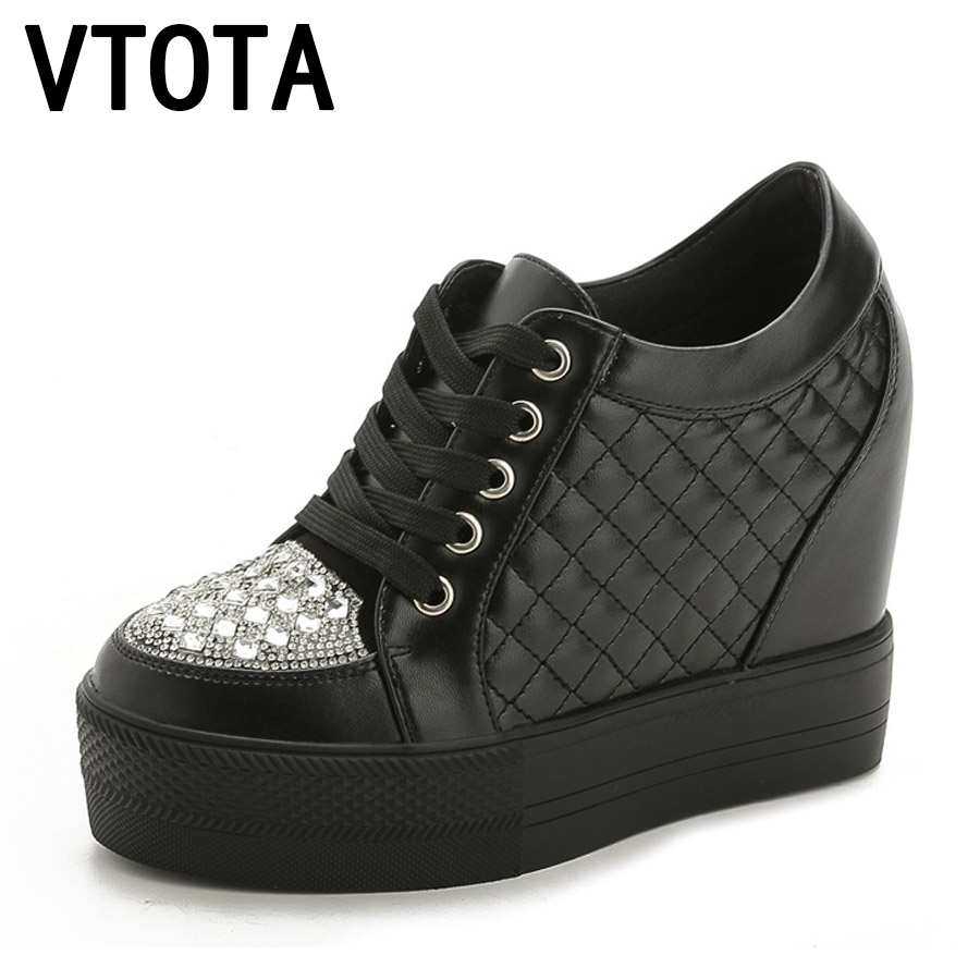 VTOTA High Heels Shoes Woman Fashion Crystal Women Sneakers Loafers Platform Shoes Zapatos Mujer Spring Summer Shoes H29