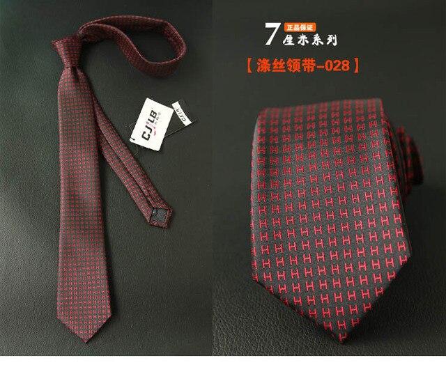 Узкий мужской галстук в полоску, новый дизайн  4