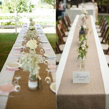 OurWarm 10mx33cm Burlap Table Runners for Wedding Banquet Hessian Jute Burlap Roll for Craft Table Decoration Event Party newspaper burlap coaster