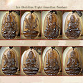 Ice Obsidian natal Buddha Pendant twelve zodiac Amulet Bring good luck men and women's pendant