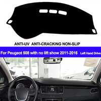 TAIJS Car Dashboard Cover Dash Mat Dash Board Pad Anti-UV For Peugeot 508 With No Lift Show 2011 2012 2013 2014 2015 2016