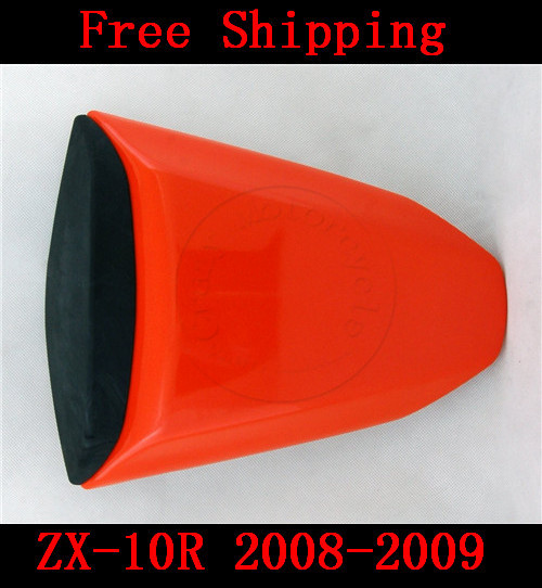 For Kawasaki ZX10R ZX 10R 2008-2009 motorbike seat cover Brand New Motorcycle Orange fairing rear sear cowl cover Free Shipping new arrival black motorcycle rear seat cover cowl for kawasaki ninja zx6r 636 zx 6r 2007 2008 07 08 90c20 wholesale
