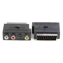 RGB Scart на 3 RCA S-Video адаптер Композитный RCA SVHS S-Video AV TV Аудио для видео DVD-рекордер