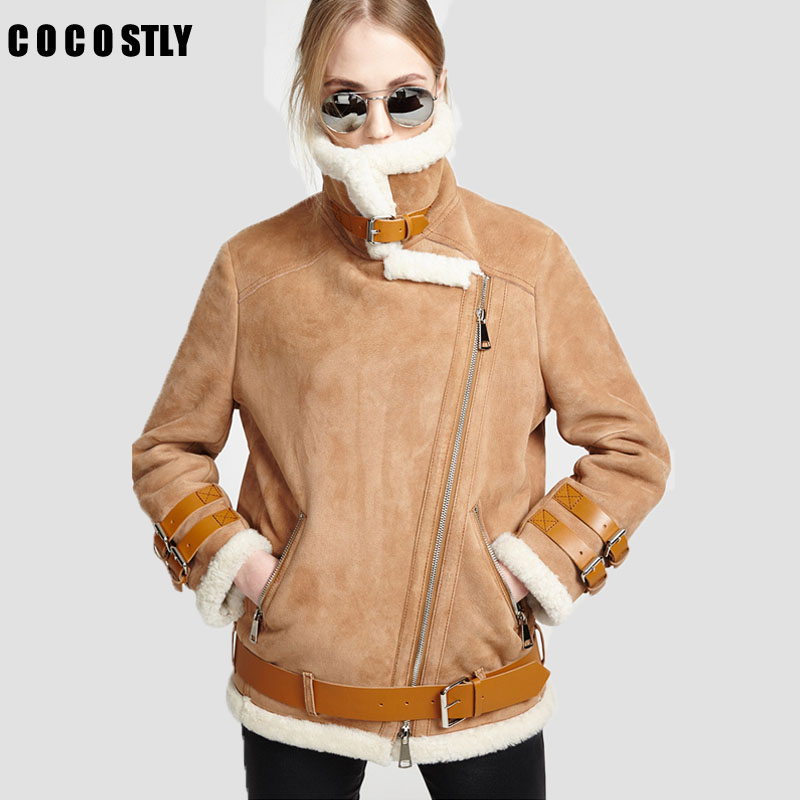 Online Buy Wholesale designer shearling coats for women from China