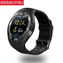 KESHUYOU Y1 часы телефон умные часы IOS женщина sim карты доступны да часы наручные часы с трекером bluetooth часы телефон android