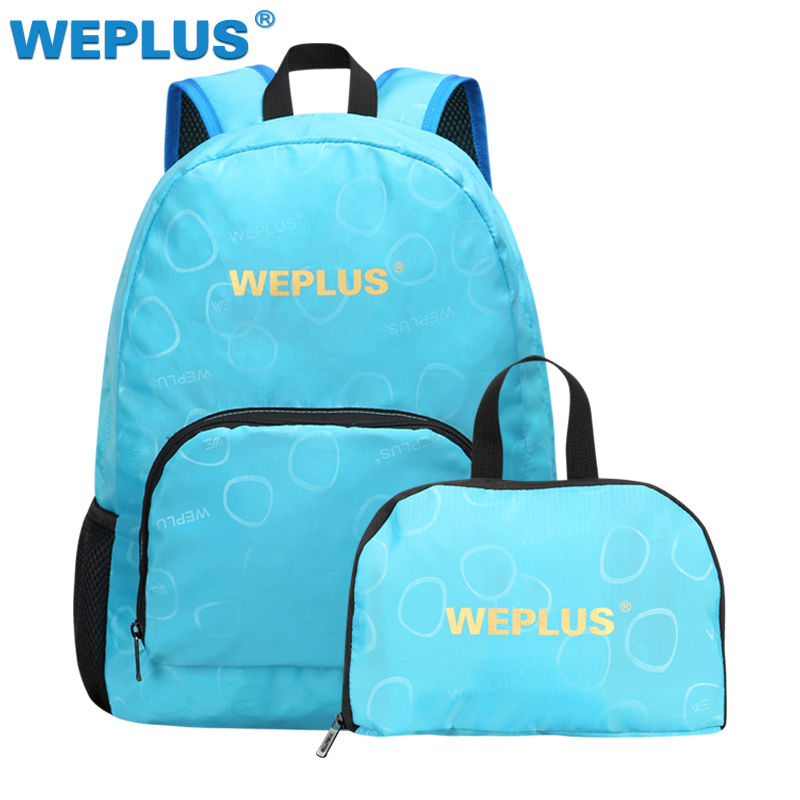 Durable Light weight Nylon Foldable Backpack Waterproof Backpack Folding Bag Portable Men Women Backpack for Travel Ultra light Рюкзак