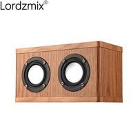 Bluetooth Speaker Wireless HiFi mini Speaker High Quality Stereo 3D Surround Sound box System Built in wood Speakers for jbl