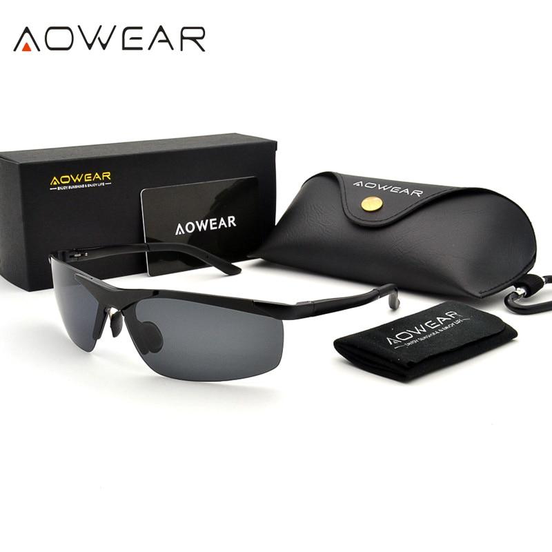 AOWEAR Men  HD Polarized Sunglasses Mens Goggles Anti glare Sun Glasses  Aluminum Frame Sports Outdoor Driving Fishing Eyeglasspolarized sunglasses menpolarized sunglasseshd polarized sunglasses -