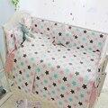 4-10 pcs estrelas coloridas design 100% algodão macio e confortável conjunto lençol, baby crib bedding set, roupa de cama para as crianças na cama