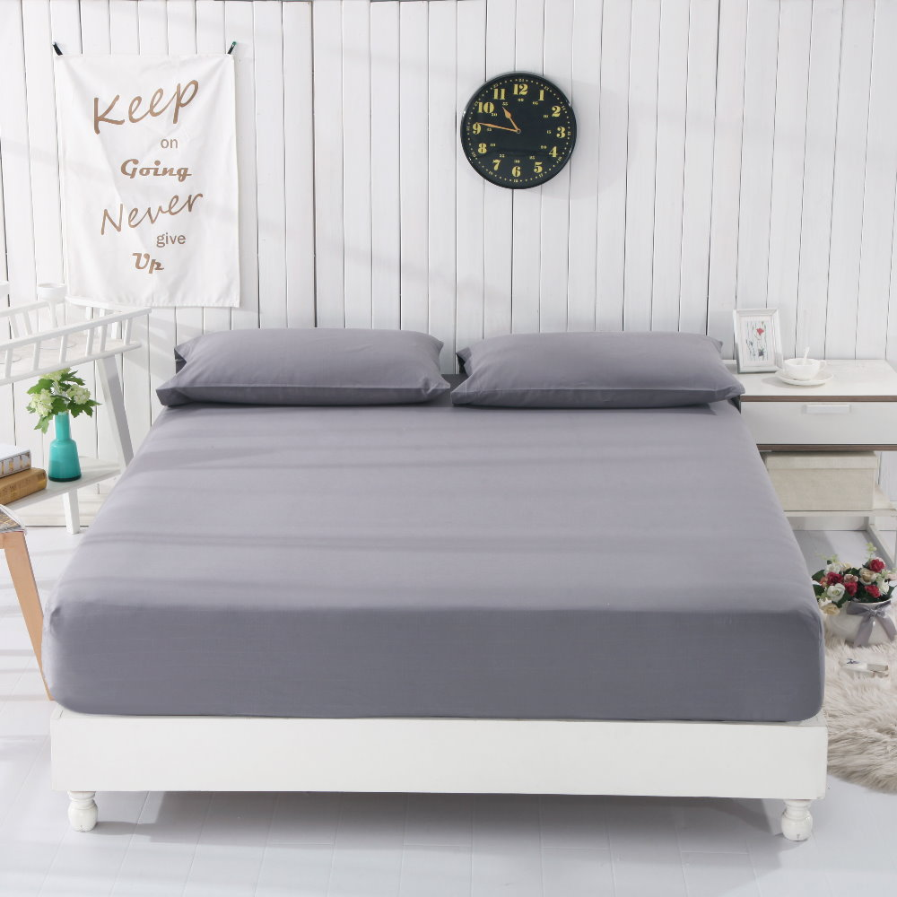 Grounded earthing Gray Fitted sheet  standard Twin Full Queen King with pillow cases EFM Protection Antistatic bed