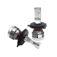 1Set Mini Size High Quality H4 120W PHILIPS CSP Lumiled Chip LED Headlight Kit Hi Lo