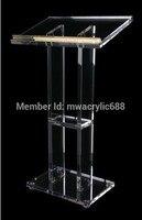 Кафедрой мебели Бесплатная доставка популярность Красивая фирма современный Дизайн дешевые прозрачный Акриловый Трибуна Акриловые Подиу
