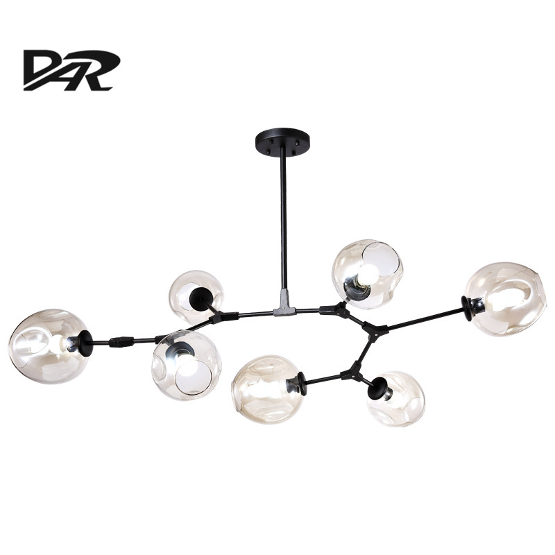 DAR Nordic Design Branch Pendant Lamp Loft Peandant Lighting For Home Luminaria Bubble Glass Shade Retro Hanging Light Fixtures