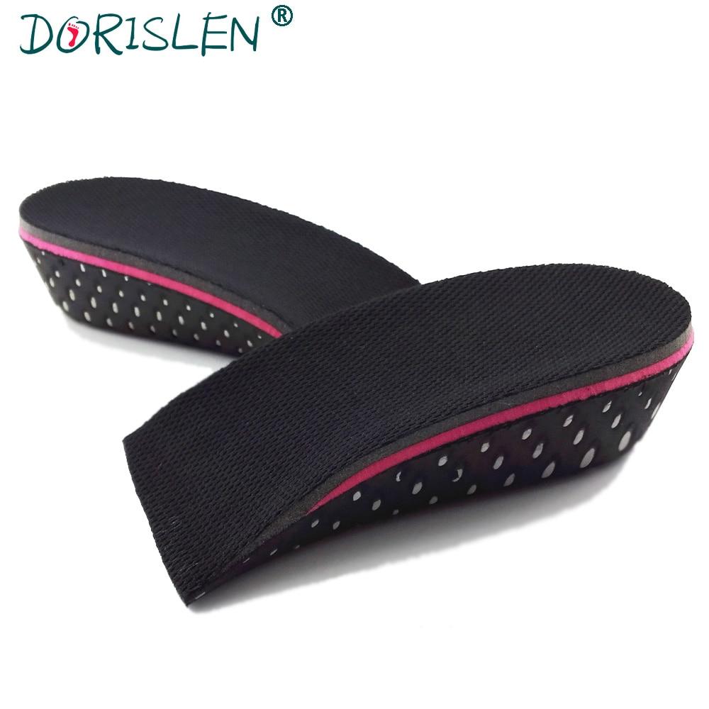 DORISLEN 3cm 5cm EVA Height Increase Shoe Inserts Anti Slip Half Shoe Insole 50pairs/Lot