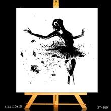 AZSG Sanguine Ballet Dancer Clear Stamps For DIY Scrapbooking/Card Making/Album Decorative Silicone Stamp Crafts