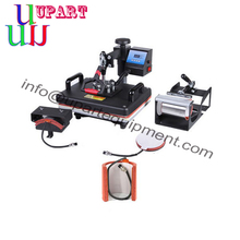 Plate Mug Cap TShirt 5 In 1 heat Press Machine