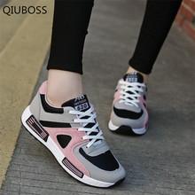 QIUBOSS wiosna nowy projektant różowy platformy trampki kobiety wulkanizacji buty Tenis Feminino Lace-up Casual buty damskie kobieta Q483 tanie tanio Dla dorosłych Krowa Zamszu Mieszane kolory AGUTZM Szycia Niska (1 cm-3 cm) Wiosna jesień Pasuje prawda na wymiar weź swój normalny rozmiar