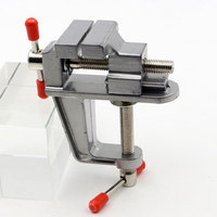 1 Piece New 3.5 Inch Aluminum Small Jewelers Hobby Clamp On Table Bench Vise Mini Tool Vice