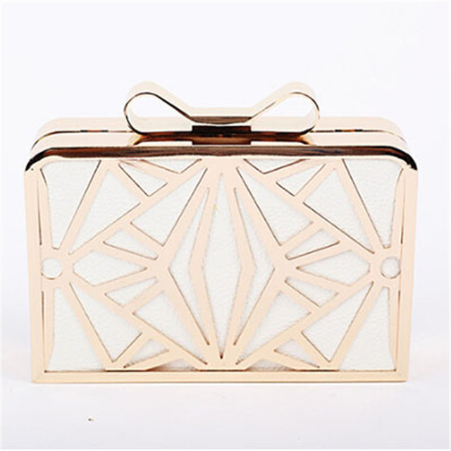2016 New Fashion Women Handbags Metal Patchwork Shinning Shoulder Bag Ladies Pink Day Clutch Wedding Party Evening Bags Mini Bag