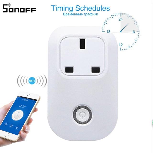 Sonoff S20 UK Plug Wifi Power Socket Wireless APP Remote Socket ...